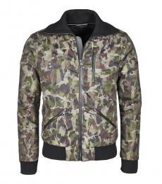 Dolce & Gabbana Olive Camouflage Bomber Jacket