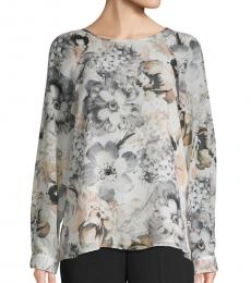 Multi color Floral Raglan-Sleeve Blouse