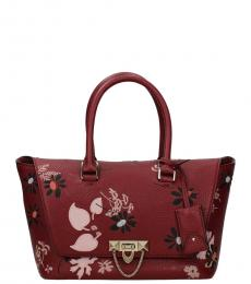 Valentino Garavani Red Floral Medium Satchel