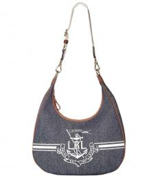 Ralph Lauren Denim Huntley Large Hobo