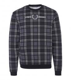 Fred Perry Dark Grey Logo Embroidery Sweatshirt