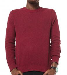 Michael Kors Pop Red Cotton-Blend Sweater