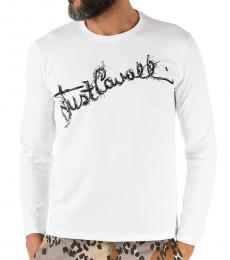 Just Cavalli White Graphic Print T-Shirt