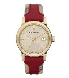 Burberry Red Haymarket Check Watch