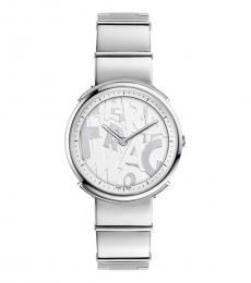 Silver Logomania Watch