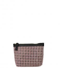 Pastel Pink Perforated Clutch