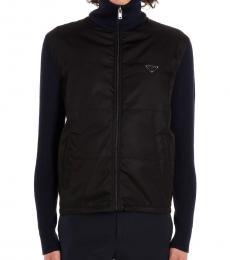 Black Logo Cardigan Jacket