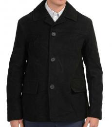 Prada Black Buttoned Basic Jacket