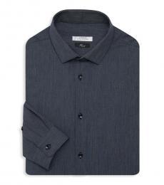 Dark Blue Logo Embroidered Shirt