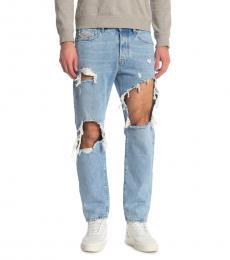 Diesel Blue Slim Skinny Distressed Jeans