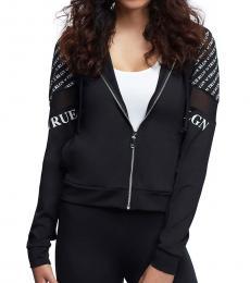 True Religion Black Panel Hoodie Jacket