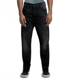 Black Relaxed Taper Jeans