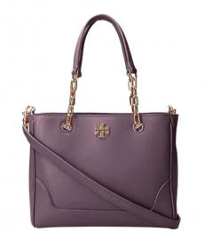 Tory Burch Imperial Garnet Carter Chain Small Tote
