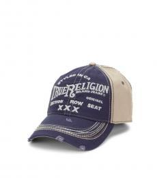 True Religion Navy Triple X Baseball Cap