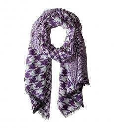 Michael Kors Purple Patchwork Wrap Scarf