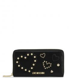 Love Moschino Black Embellished Wallet
