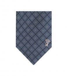 Versace Blue Printed Tie