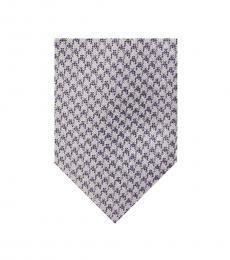 Michael Kors Purple Houndstooth Tie