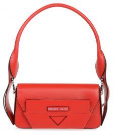 Prada Red Manuelle Small Shoulder Bag