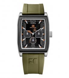 Hugo Boss Olive-Black Chronograph Watch