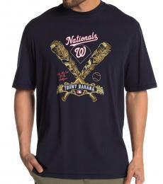 Navy Blue-Tropical Tiki T-Shirt