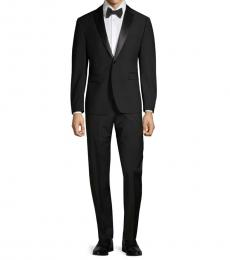 Black Slim-Fit Tuxedo Suit