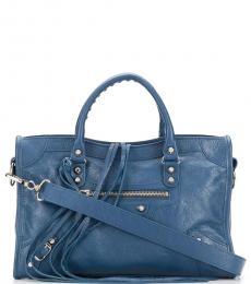 Balenciaga Blue City Medium Satchel