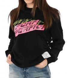 Diesel Black Graphic Print Sweatshirt
