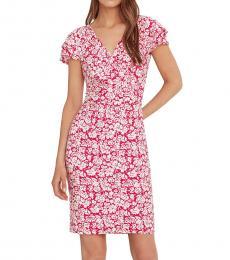Ralph Lauren Red Floral Flutter-Sleeve Dress