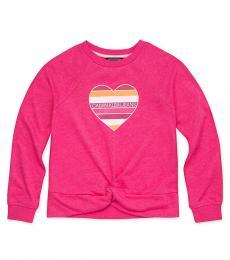 Calvin Klein Little Girls Pop Raspberry Logo Twist Sweatshirt