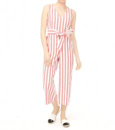 J.Crew Multi Color Linen V-Neck Jumpsuit