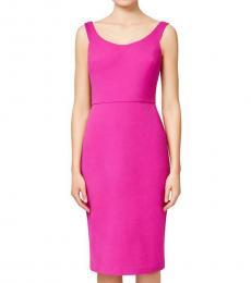 Pink Scuba Crepe Dress