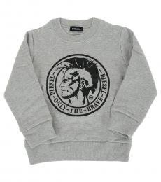 Diesel Little Boys Grey Graphic Sweatshirt
