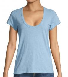 Rag And Bone Spring Blue Scoop Neck T-Shirt