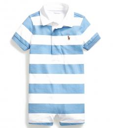 Baby Boys Chatham Blue Striped Rugby Shortall