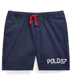 Little Boys Newport Navy Poplin Shorts