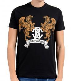 Black Graphic Lion T-Shirt