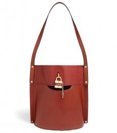 Tan Aby Large Bucket Bag
