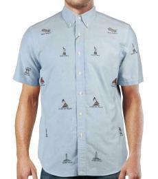 Ralph Lauren Blue Short Sleeve Casual Shirt