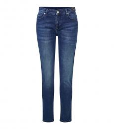Versace Jeans Blue Skinny Couture Logo Jeans