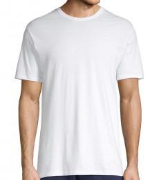 Michael Kors White Short-Sleeve Cotton Tee