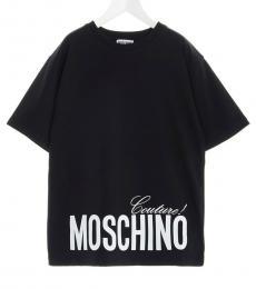 Moschino Little Boys Black Logo T-Shirt