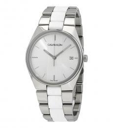 Calvin Klein Silver Contra Silver Dial Watch