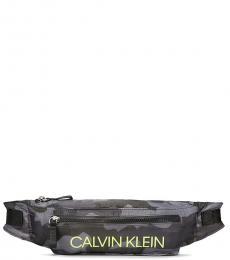 Calvin Klein Grey Camo Logo Belt Bag