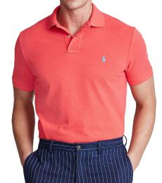 Ralph Lauren Racing Red Classic Fit Mesh Polo