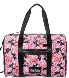 Juicy Couture Black Pink On The Right Track Large Duffle Bag