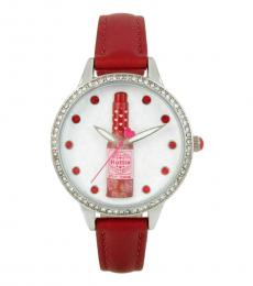Betsey Johnson Red Accented Hotsauce Watch