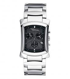 Roberto Cavalli Silver Chrono Dial Watch