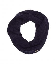 Michael Kors True Navy Cable Knit Infinity Scarf