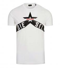 Diesel White Graphic Logo T-Shirt